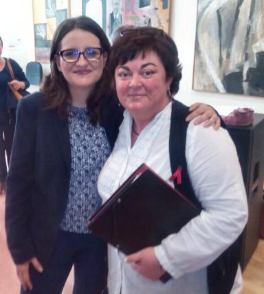 Luisa María Sempere con Monica Oltra