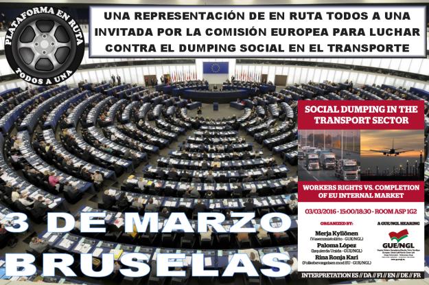 Plataforma del Transporte En Ruta Todos en el Parlamento Europeo